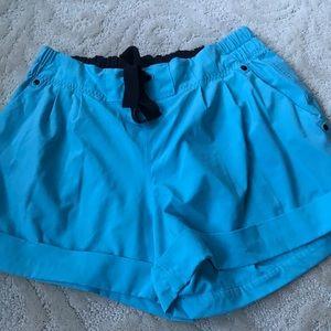 Blue Lululemon shorts